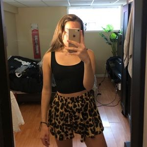 Leopard print shorts/skirt